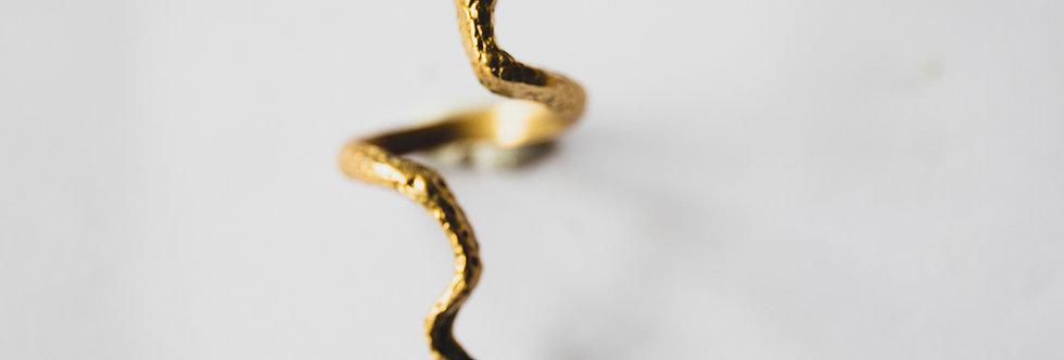 Bague Serpent en laiton ajustable