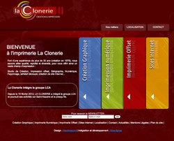 Site internet La Clonerie