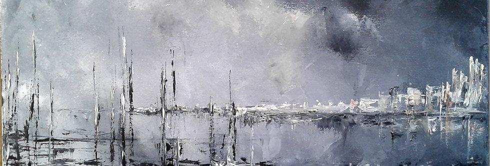 """Peinture """"Soir sur la Baie"""""""