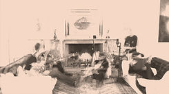 The Nyco Project art residency at Joldwynds. Music video shooting location. Drawing room fire place.