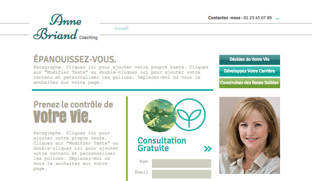 Consulting et Coaching website templates – Coach de vie