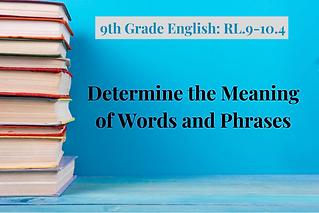 9th Grade English_ RL.9-10.4-Words and P
