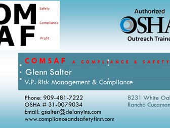 Compliance & Safety First Will Help Your Business Create a Safe WorkPlace!