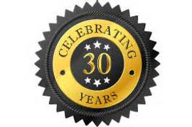 Rancho Cucamonga Commercial Insurance Celebrating 30 years of business sticker