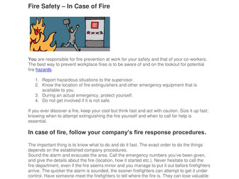 Fire Safety and You
