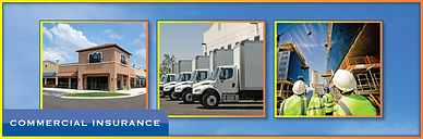 Commercial Insurance picture of commercial building commercial auto fleet, commercial contractors.