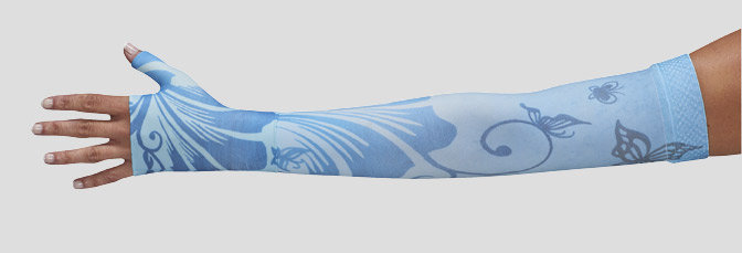Juzo Signature Print Series (Butterfly Flower Blue)- Model 2000 / 2001