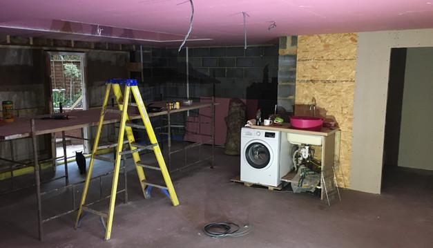 Kitchen part way through construction