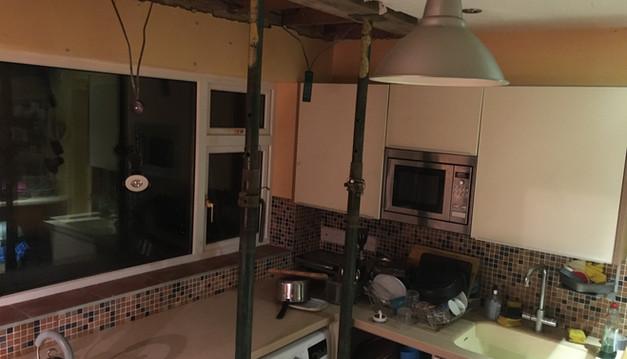 Original kitchen just after starting