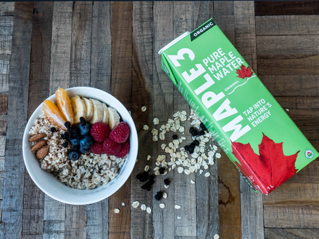 A Light and Healthy Maple Water Oatmeal!