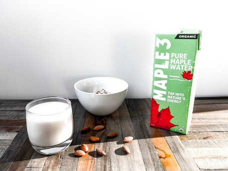 Recette de lait d'amande maison à l'eau d'érable