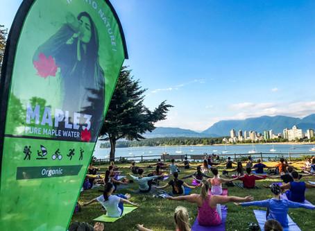 L'eau d'érable Maple 3, l'hydratation des Yogis à Vancouver