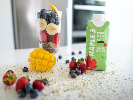 Recette de smoothie vegan à base d'eau d'érable