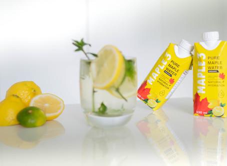 Limonade à base d'eau d'érable