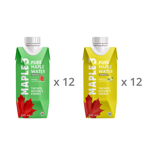 Maple Water - Mixt Box - 24 x 330 ML