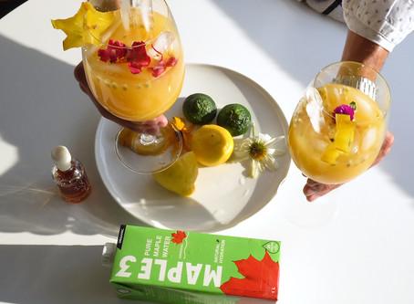 Cocktail exotique à base d'eau d'érable