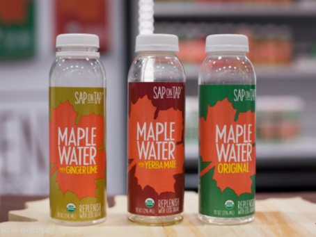 Maple water tapped from trees is the next coconut water