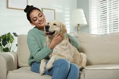 bigstock-Young-Woman-And-Her-Golden-Ret-