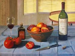 Fruit and Wine Still Life