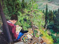 Young man enjoying Italy (2002)