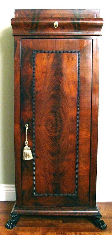 Fine Empire Period Pedestal-Cupboard in Figured Mahogany