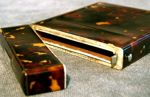 19th Century Tortoiseshell Calling-Card Case by Lund of London