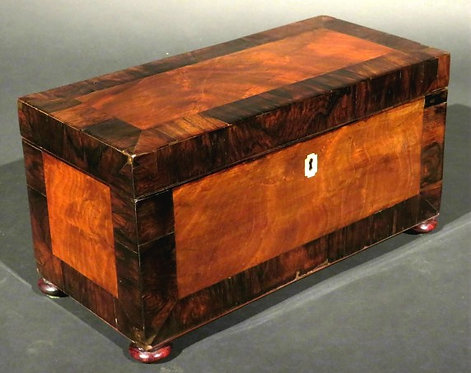 A Very Good 19th Century Mahogany Tea Caddy, Scottish / English Circa 1835