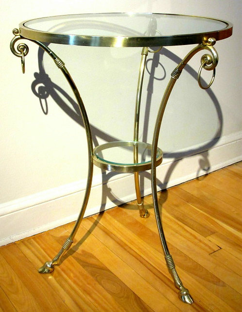 Modernist Brass Gueridon Occasional Table attributed to Maison Jansen, France
