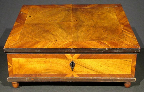 A Mid 18th Century Baroque Parquetry Slant Front Writing Slope