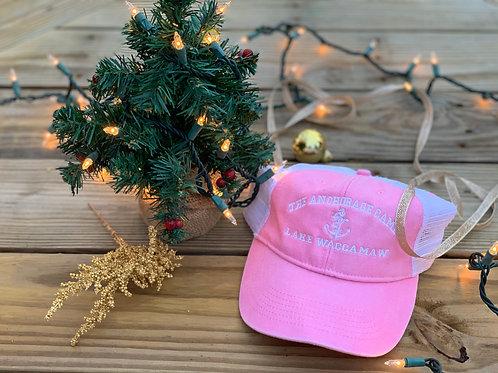 Pink Trucker Mesh Washed Hat