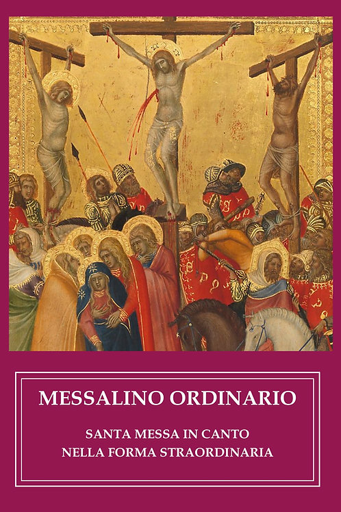 Messalino Ordinario - S. Messa in canto - Forma extraordinaria