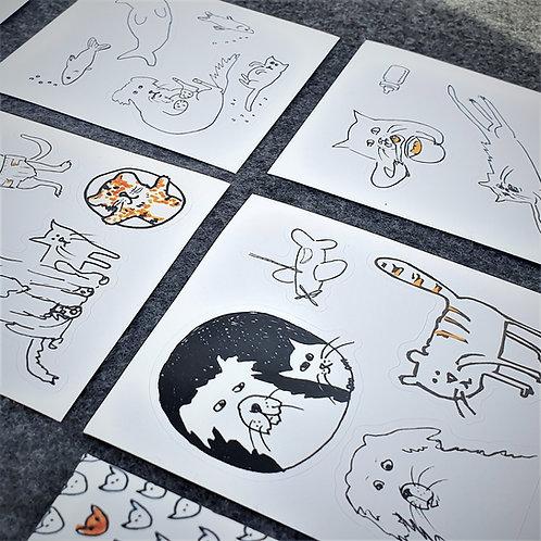 Naklejki - kolorowanki  z bohaterami książeczek. Niech zabawa trwa w najlepsze!