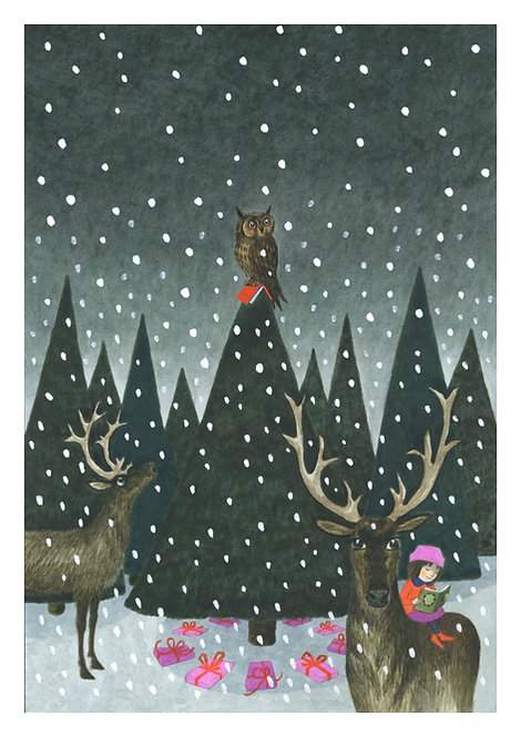 Reading with Reindeer by Emma Chichester Clark