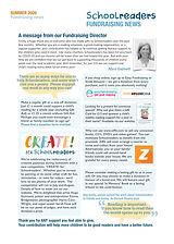 Newsletter July fundraising insert 2020
