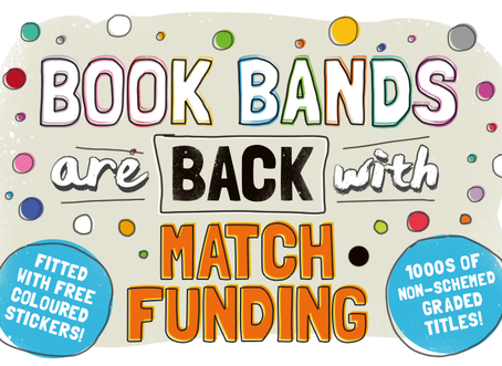 Get match-funding for your school's spending on books!