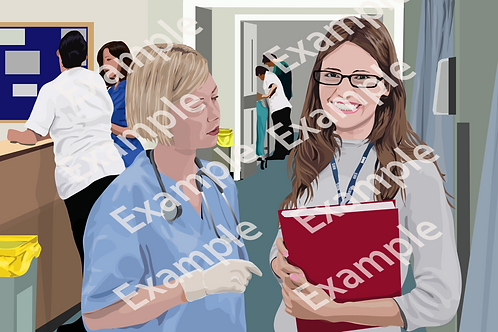Librarian on the ward PNG file