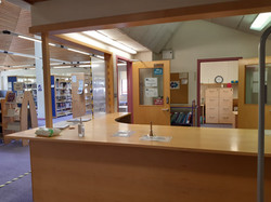 QHB Library counter