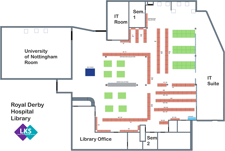 RDH library layout post vaccination hub.