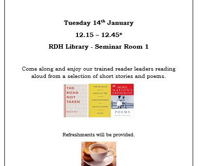 Shared Reading Event next Tuesday!