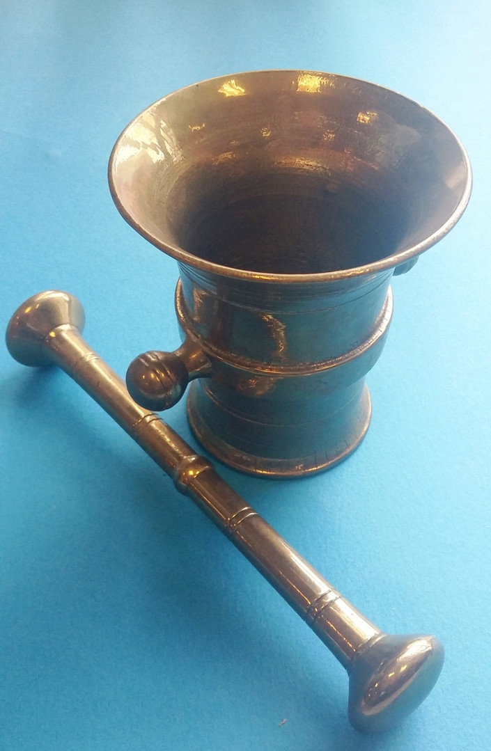 Brass Pestle and Mortar