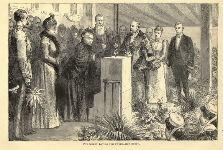 Queen Victoria State Visit (Depicted hol