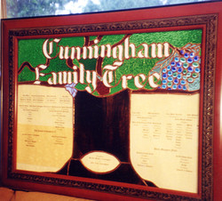 family tree stained glass