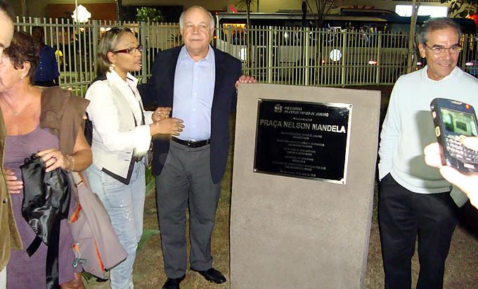 Inauguração da Praça Nelson Mandela