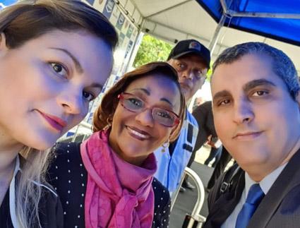 Alexandra Menescal, Regina Chiaradia e Daniel Sanches