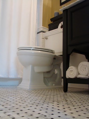 Custom Floor tile and Toilet