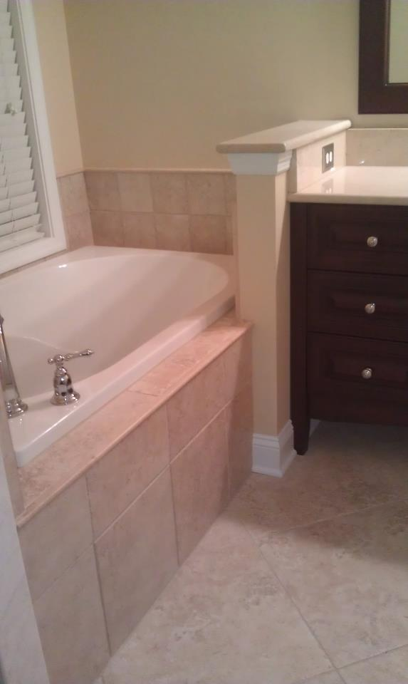 Garden Tub and Vanity