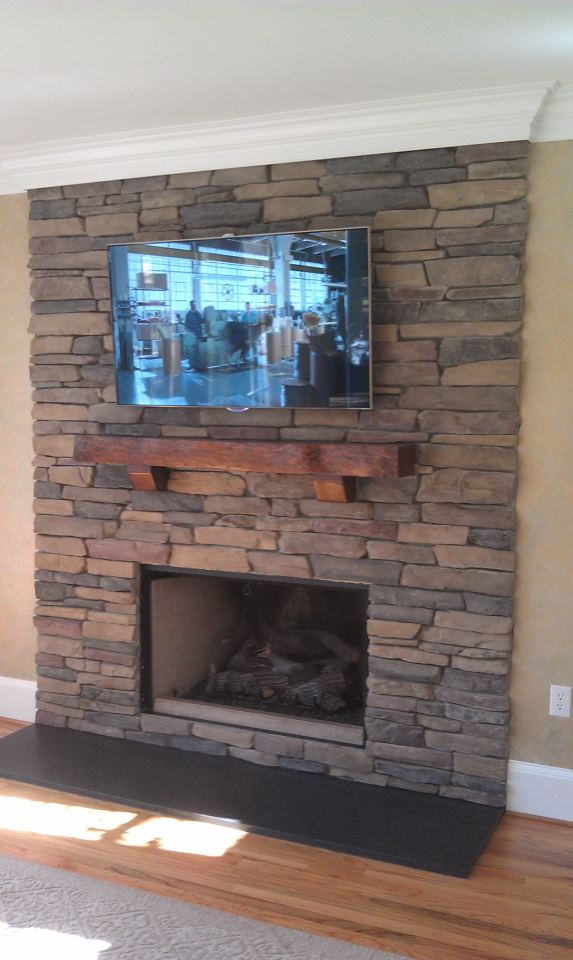 Custom Stone Work and Mantle