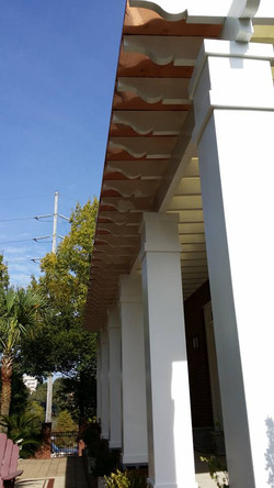 Copper Roof over Thick Columns