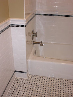 Custom Shower Tile and Fixtures