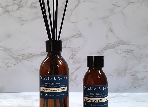Pomegranate Noir Tall Reed diffuser 200ml or 100ml